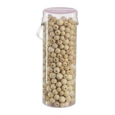 NEW Crafters Choice Small Wood Beads In Tube By Spotlight