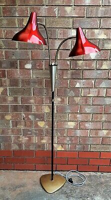 Vintage Retro Twin Red Anodised Daydream Floor Lamp – 1950s