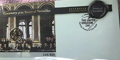 Australia 2019 Treaty Of Versailles Sydney Stamp And Coin Expo - Day 2 L/Edition