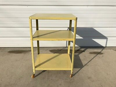 Groovy Bar Cart Yellow Vintage Industrial Mid Century Tea Cosco Squirreltailoven Fun Painted Chair Ideas Images Squirreltailovenorg