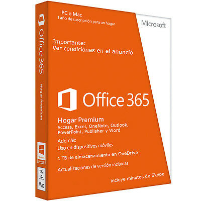 Microsoft Office 365 / 5 PC or MAC 1 Year Subscription / To renew or new account