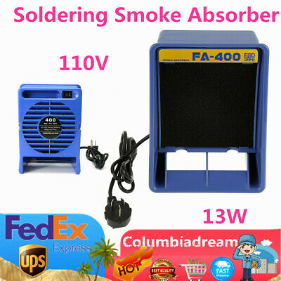 110V 13W FA-400 Soldering Iron Smoke Absorber Fume Extractor Filter tool