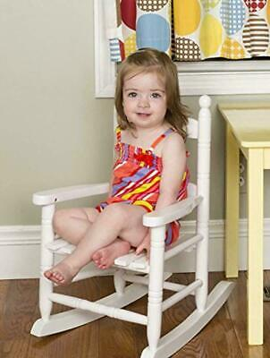 White Wood Knollwood Kid's Rocking Chair Child