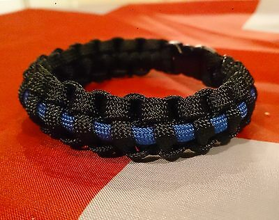 The Thin Blue Line COPS Care of Police Survivors Inspired Paracord 550 Bracelet