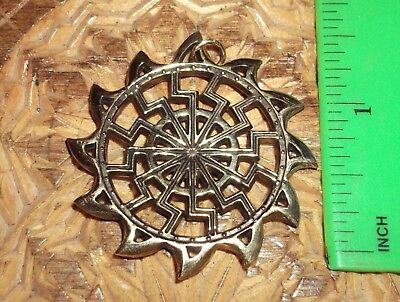 Ancient Scythian-Slavs Bronze Symbol of the Black Sun / Replica-Amulet