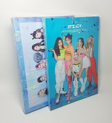 ITZY Album - [IT'z ICY] 2Ver SET CD+P.Book+Photocard+1st Page+F.Poster+Pre-Order