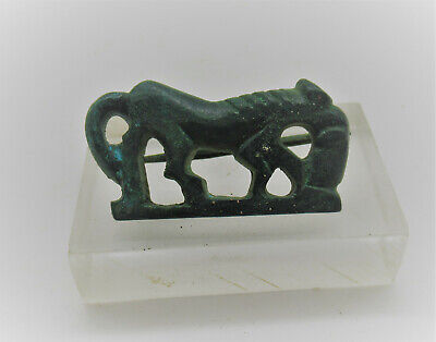 British Found Circa 100Bc-100Ad Ancient Romano-Celtic Bronze Horse Brooch