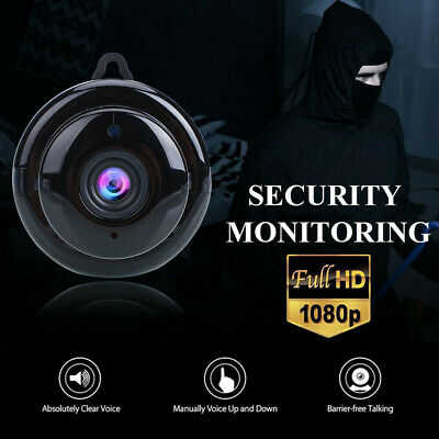 WiFi Wireless 1080p Mini Camera HD DV IR Hidden Security Audio Video IP Camera