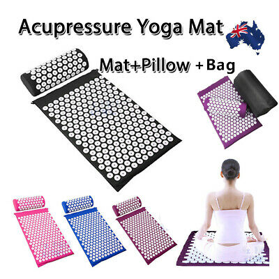 Shakti Massage Acupressure Mat Yoga Sit Lying Mats Pain Stress Soreness si