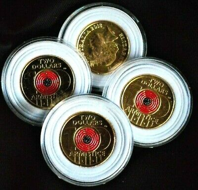 2018 BEST EVER $2 COIN-100yrs REMEMBRANCE POPPY- EX MINT ROLL- IN PADDED CAPSULE