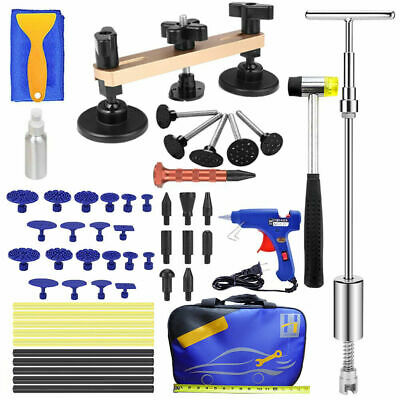 Paintless Dent Removal Puller Lifter Tools Line Board Repair Hammer Hail Kit
