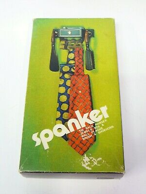 Vintage Spanker Tie Rack Hanger, Jewels Box & Wall Plaque, Brush and Shoehorn