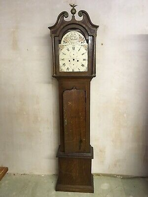 Oak Longcase Clock Case and Face.