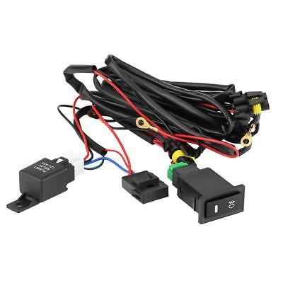 12V Universal Car LED Fog Lamp On/Off Switch Wiring Harness Fuse Relay Kit BS
