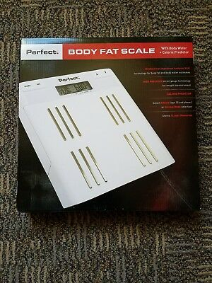 Perfect Fitness Body Fat Weight Scale Body Water & Calorie Predictor Bioelectric