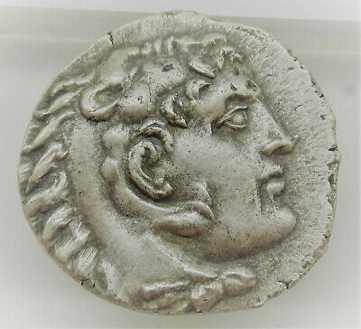 Perfect Ancient Greek Ar Silver Tetradrachm Coin Of Alexander The Great