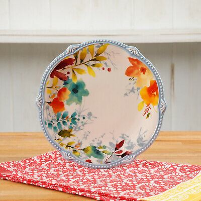 The Pioneer Woman Willow 21-Inch Oval Platter Oversized Floral Serving Plate