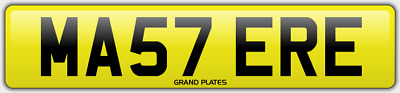 Master number plate MA57 ERE CHERISHED REGISTRATION MASTERS BOSS FEES INCLUDED