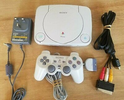 PS1 Sony Playstation Psone Slim Console (SCPH-102 PAL) + Official Controller GWC