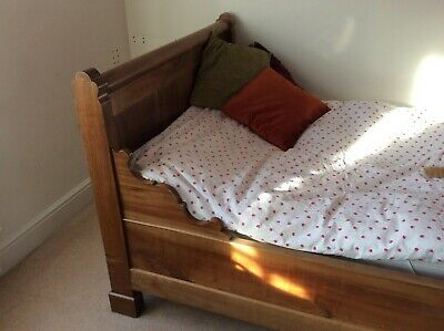 Antique French Style - Small Double/Large Single - Sleigh Bed Including Mattress