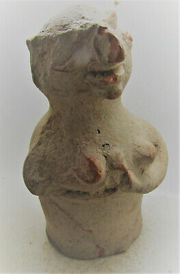 Rare Early Indus Valley Harappan Terracotta Pillar Figurine 2800-2000Bce