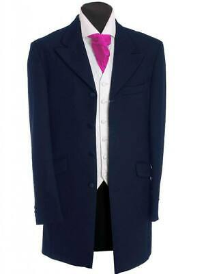 Men's Boys Navy Herringbone Prince Edward Jacket,Wedding, Dress, Funeral 20-46