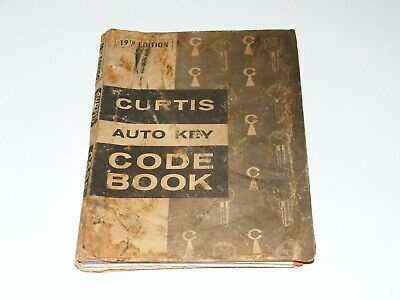 Vtg Curtis Industries Auto Key Code Book 19th Ed Foreign & Domestic Locksmith