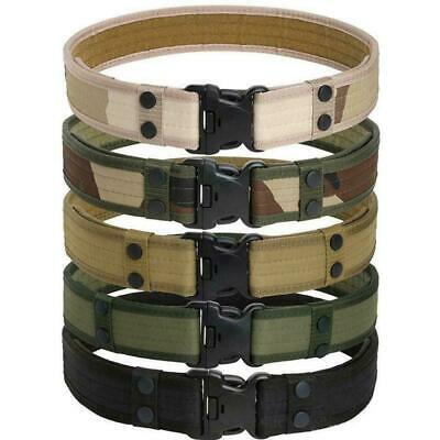 Outdoor Tactical Belt Men's Military Army Thicken Canvas Adjustable Waistba J1Z4