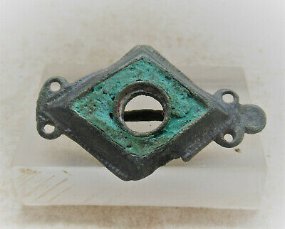 Circa 300-400Ad Ancient Roman Enamelled Bronze Legionary Lozenge Type Brooch