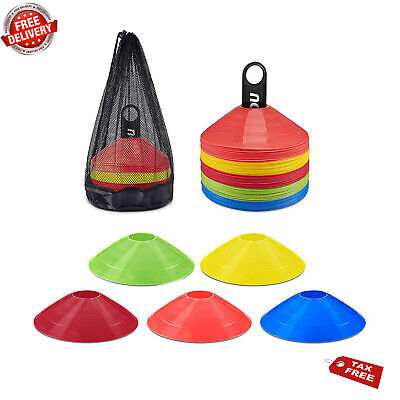 50-Pack Kevenz 2 inch High Soccer disc Cones,Multi color Cone for Agility
