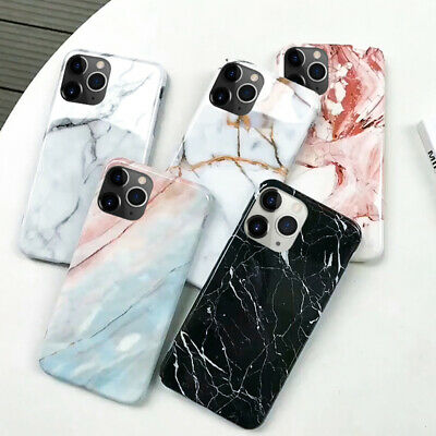 For iPhone XS Max XR X 8 7 6 Luxury Cute Pattern Marble Rubber Case Soft Cover