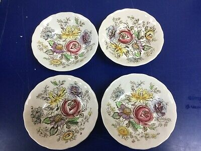 """Vintage Johnson Brothers SHERATON China 5"""" Berry Bowls Set Of 4 Great Condition"""