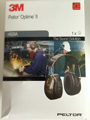 3M Peltor Optime II Ear Defenders, With Headband, (H520A-407-GQ)
