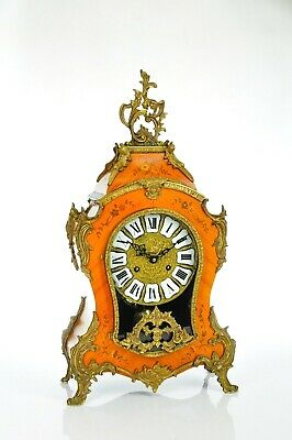 Antique German Mantel Clock with Brass Bim-Bam Chime French Style approx.1960
