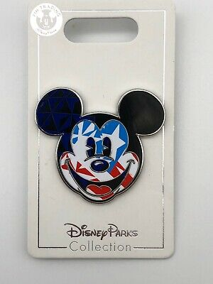 Disney Parks Trading Pin Epcot World Showcase American Flag Mickey Mouse USA