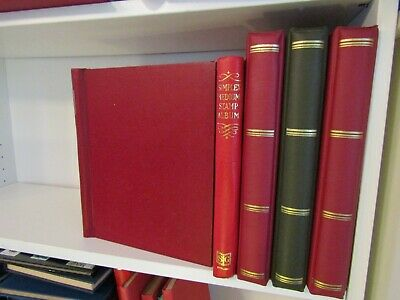 5 x STANLEY GIBBONS SIMPLEX & RING 22 STAMP ALBUMS - ALL WITH UNUSED ALBUM PAGES