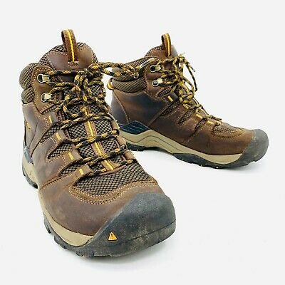 ad0f438c733 KEEN GYPSUM II Waterproof Mid Brown Leather Hiking Boots Mens Size 10