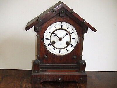 Vintage/Antique Junghans Wooden Striking Mantel Clock Junghans for Restoration