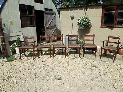 Set of 6 Dining Chairs including 2 Carvers