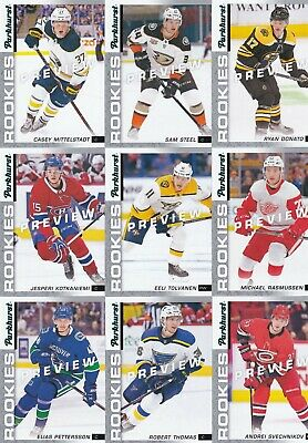 2018-19 Upper Deck Parkhurst Rookies Previews Lot Of 9 1 True 9 All Brand New