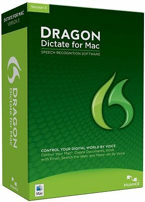 NIB Nuance Dragon Dictate 3.0 for Mac - Speech Recognition Software
