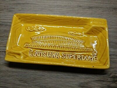 Vintage Mustard Superdome Louisiana Ashtray