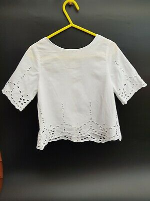 NEXT White Cotton  Girls Top. Size 4 years old.