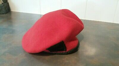 Red RMP 100/% Army Cap Hat New MP British Wool Beret Royal Military Police