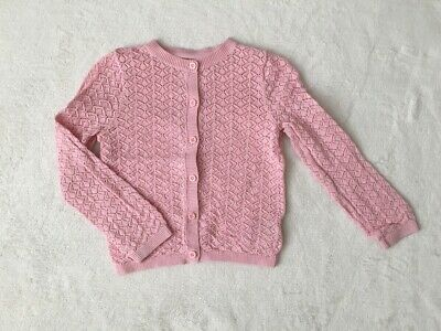 ***Mothercare baby girl Pink crochet knitted cotton cardigan 18-24 months***