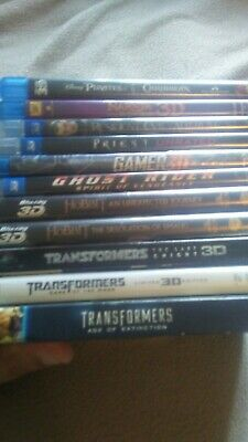 3d bluray Lot Of 11 Transformers, Hobbit and more