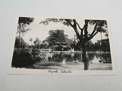 H523 postcard Photo Pagoda Calcutta
