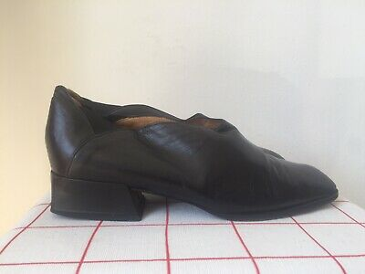 50ad886f8b908 VTG 90S HOBBS 60s slip on medieval square toe angled heel shoes made Italy