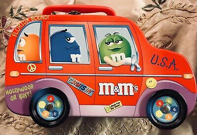 Vintage M&M's Road Trip Lunch Box Collectible