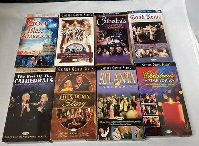 Gaither Gospel Series VHS Tapes: Set of 8, Gospel Music Worship Music Videos